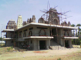 South East view of Sre Kagabujandar Guru Temple